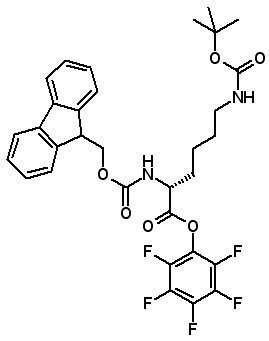 Fmoc-D-Lys(Boc)-OPfp  [133083-36-0]
