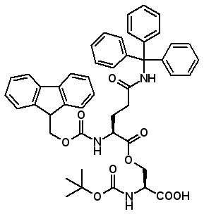 Boc-Ser[Fmoc-Gln(Trt)]-OH  [944283-19-6]