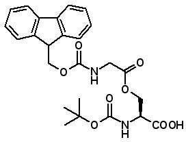 Boc-Ser(Fmoc-Gly)-OH  [944283-06-1]